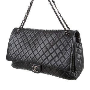 Chanel XXL Calfskin Quilted Jumbo Flap Bag